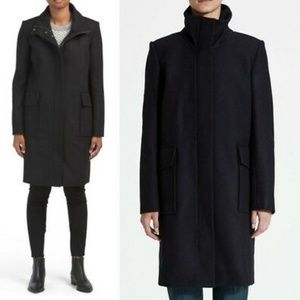NWT THEORY Wool & Cashmere Funnel Neck Coat XS